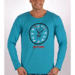Pánské pyžamo šortky Kamasutra clock s dlouhým rukávem – Cotton shop