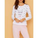 Dámské pyžamo FA6987PB bílorůžová – Noidinotte
