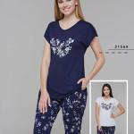 Dámské pyžamo (krátké rukávy/kapri kalhoty) 21564