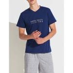 Pánské pyžamo FC2146PB šedomodrá – Noidinotte