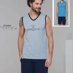 Pánské pyžamo (ramínka/krátké kalhoty) 21604