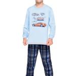 Chlapecké bavlněné pyžamo Maty modré s autem