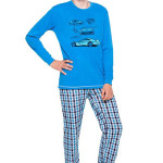Chlapecké pyžamo dlouhé Vojta modré