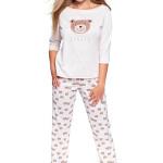 Dámské pyžamo Bear béžové