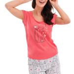 Dámské pyžamo Eva růžové cat