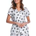 Dámské pyžamo Grace s knoflíky ježci