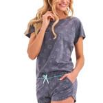 Dámské pyžamo Rozi šedé s hvězdičkami