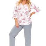 Dámské pyžamo Timea květinové
