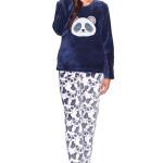 Dámské soft pyžamo Panda modré