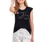 Dívčí pyžamo Eva černé Dog