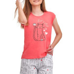 Dívčí pyžamo Eva růžové Lets chill