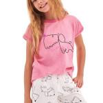 Dívčí pyžamo Hanička růžové dog