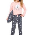 Dívčí pyžamo Maja lososové s medvídkem