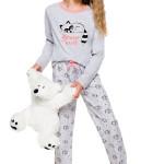 Dívčí pyžamo Maja šedé s mývalem