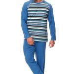 Pánské bavlněné pyžamo Henry modré