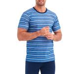 Pánské pyžamo Corin modré proužky