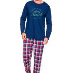 Pánské pyžamo Leo IX modré