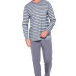 Pánské pyžamo Max IX šedé s proužky