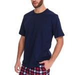 Pánské pyžamo Oliver tmavě modré