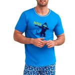 Pánské pyžamo Šimon modré opice