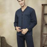 Pánské rozepínané pyžamo 7109