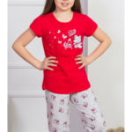 Dětské pyžamo kapri Méďa a motýli
