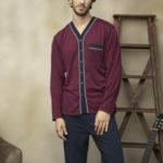 Pánské rozepínané pyžamo 7103