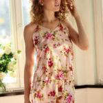 Saténové pyžamo Karen flowers 4