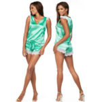 Dámské saténové pyžamo K-913 – Excellent Beauty