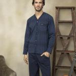 Pánské rozepínané pyžamo 7022
