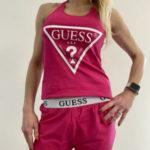 Dámské pyžamo O1GX01J1311 – SOPK – růžovo-červená – Guess