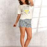 Dámské pyžamo Taro Lemon 2495 kr/r S-XL L'21