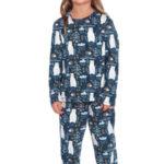 Dětské pyžamo Les tmavě modré s medvědy