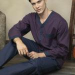 Pánské rozepínané pyžamo 4018