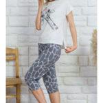 Dámské pyžamo kapri Žirafa Lili
