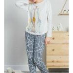 Dámské pyžamo dlouhé Žirafy – Vienetta