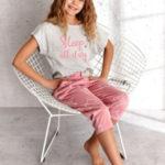 Dívčí pyžamo 2307 Etna 02 146 Sv. šedá