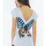 Dámské pyžamo šortky Velký motýl