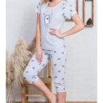 Dámské pyžamo kapri Ježek s donutem – Vienetta