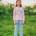 Světle růžové bavlněné pyžamo pro dívku