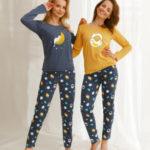 Dlouhé dámské pyžamo 2579 SARAH ZIMA 2021