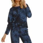 Dámské pyžamo 2554 Penny blue – TARO