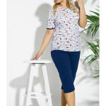 2191 Krátké dámské pyžamo KATE 2XL-4XL – TARO