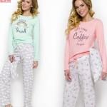 2226 Dlouhé dámské pyžamo MAJA S-XL