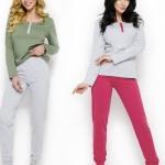 2233 Dlouhé dámské pyžamo AGNES S-XL