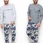 2256 Dlouhé pánské pyžamo MIŁOSZ L-2XL