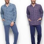 1009 Dlouhé pánské pyžamo GRACJAN 2XL-3XL