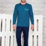 372 Dlouhé pánské pyžamo MAX L-2XL