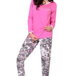 Bavlněné dámské pyžamo Magda růžové