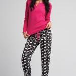 Bavlněné dámské pyžamo Rossli SAL-PY 1030